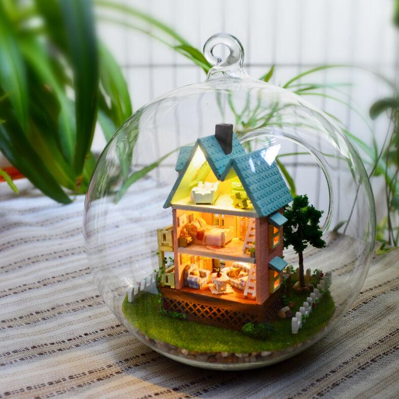 Fai da Te Artigianato Miniatura Kit per Costruire Casa Delle Bambole Luci My