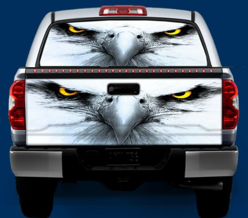 Tailgate OR Window Truck Tailgate Vinyl Graphic Decal Wrap American Bald Eagle