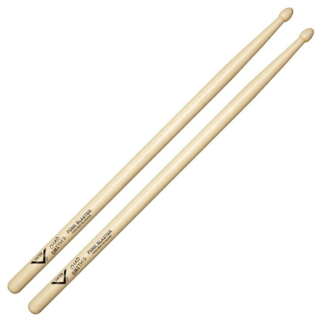 Vater Chad Smith/'s Funk Blaster Hickory Wood Tip Drum Sticks Pair