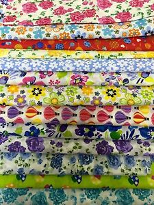 fabric-scraps-Pack-remnants-quilting-patchwork-poly-cotton-bundles-lucky-dip