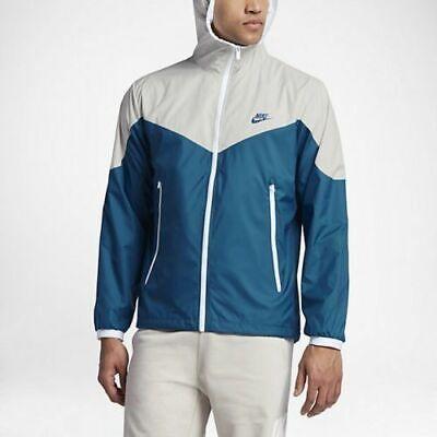 Mens Nike Sportswear Windrunner Running Jacket 917809-072 Bone/Blue NEW Size XL