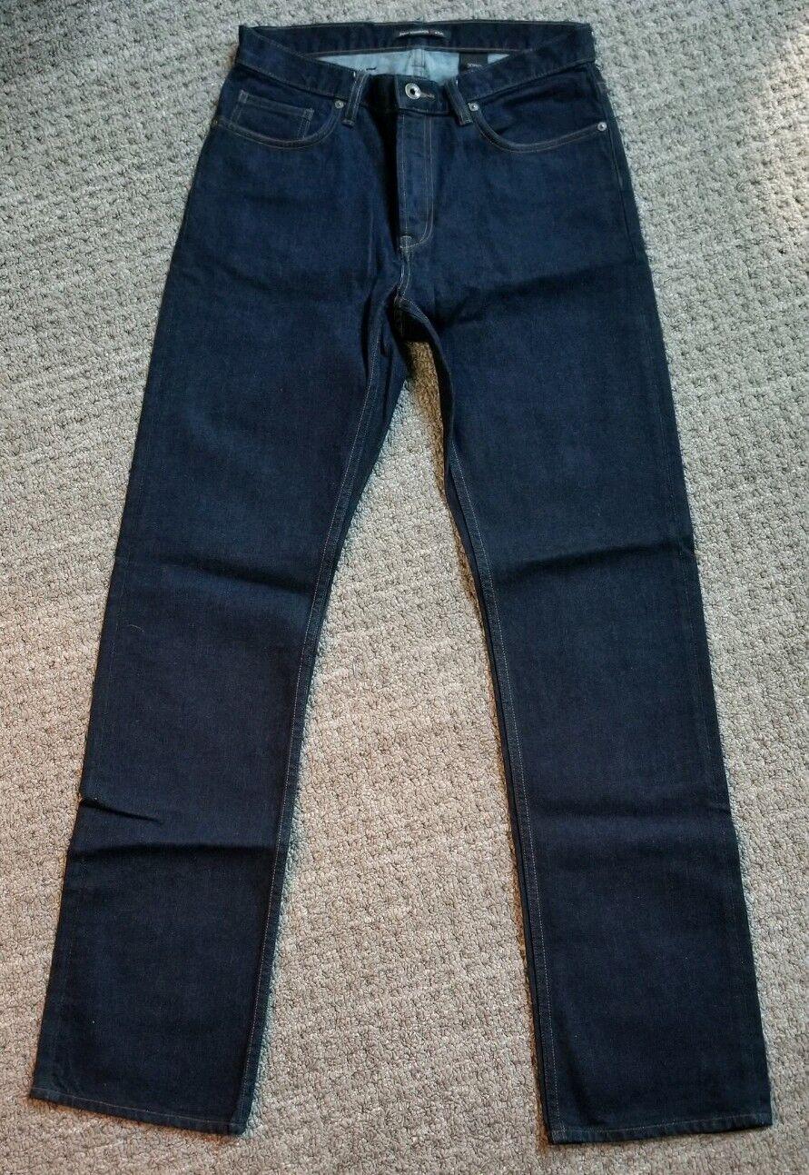 Brand New John Varvatos Authentic Straight Fit Dark bluee Jeans - Size 30