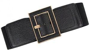 Women Wide Belts Elastic Cinch Stretch Band Wrap Metal Buckle Decorative Retro High Waist Belt for Dresses