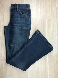Citizens-Of-Humanity-Womens-Size-25-Dark-Wash-Denim-Blue-Flare-Mid-Rise-Jeans