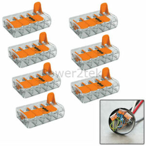 Miraculous Details About 7 X Wago 5 Way Electrical Lever Connectors Wire Terminal Block Clamp 221 415 Wiring 101 Akebretraxxcnl