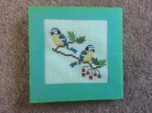 Cross Stitch Blue Tit Bird small completed Design for a greeting card or framing - Heathfield, United Kingdom - Cross Stitch Blue Tit Bird small completed Design for a greeting card or framing - Heathfield, United Kingdom