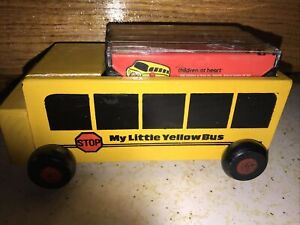 Vintage 1993 My Little Yellow Bus with Four Cassette Tapes