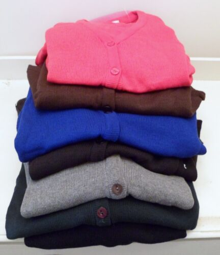 """HIGH STREET BRAND BHS SCHOOL CARDIGAN CHEST   39/"""" 41/""""  BROWN OR RED"""