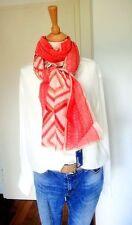 ANOKHI großes Tuch Schal Patchwork Mexiko Baumwolle Seide rosa rot  NEU!