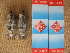 2x PCC88 / 7DJ8   TELEFUNKEN   tubes  - NOS  -  ( ~  6DJ8 / ECC88 ) PCC 88