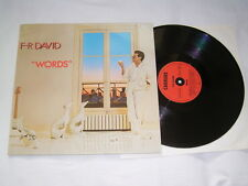 LP - F R David Words - MINT 1982 Disco # cleaned