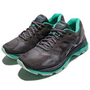 Asics-Gel-Nimbus-19-Lite-Show-Dark-Grey-Green-Women-Running-Shoes-T7C8N-9590