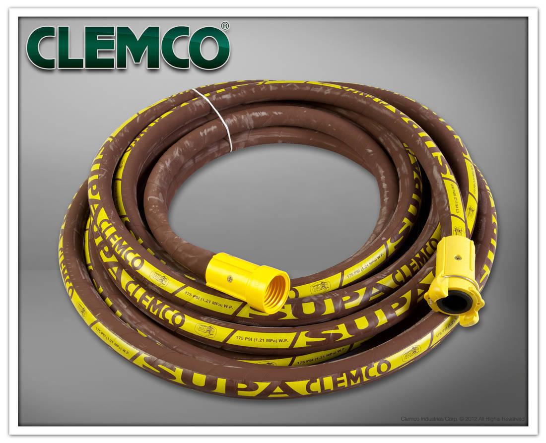 Clemco 23106C Supa Blast Hose, Coupled, 1-1 4  ID x 1-7 8  OD x 50 Feet