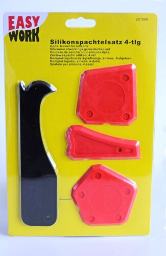 4 X Silicone Spatule Set Carrelage joints Lisseur phrase Silicone Joint Extracteur