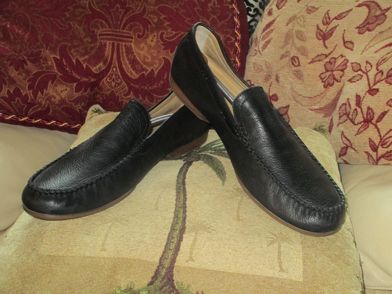 NEW FRYE LEWIS VENETIAN DRIVING LEATHER LOAFERS SIZE 13M
