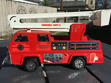 "Vintage TONKA BURNTWOOD FIRE DEPT. Snorkel Unit 3 Toy Fire Truck 17 1/2"" Nice!!!"