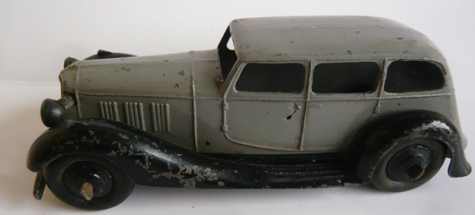 DINKY 36a 1946-48 Armstrong Siddeley in gris Con negro Pedane