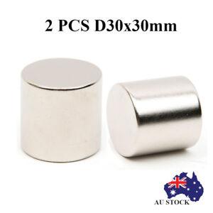 2x-30x30mm-Super-Strong-Round-Circular-Cylinder-Magnet-Rare-Earth-Neodymium-N52