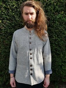 Mandarin Grandad Kurta Hipster Long Style M XXL Men/'s Nehru Collar Jacket