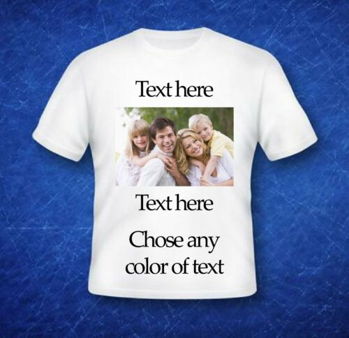 Custom Personalized T-Shirts with Photo Easter Christmas fathers mothers