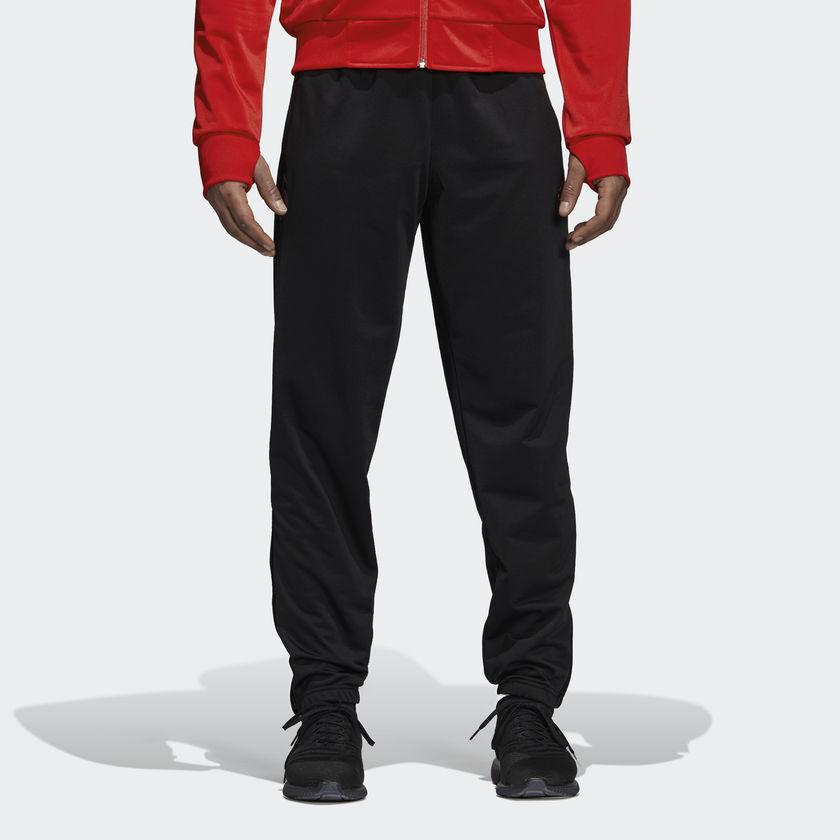 Adidas Real Madrid 2018 19 Symbol Jogginghose Neu Schwarz Rot Cw8703