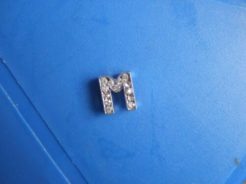 Lot 50//100pcs lettre A-Z Slider Rhinestone Beads Fit 8 mm Ceinture Charm Bracelets