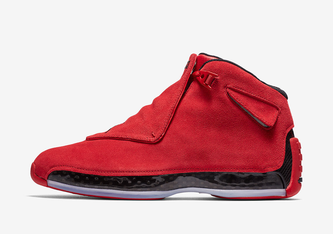 uk availability 3c87a 23a83 2018 Nike Nike Nike Air Jordan 18 XVIII Retro Red Tgold Suede Size 12.  AA2494