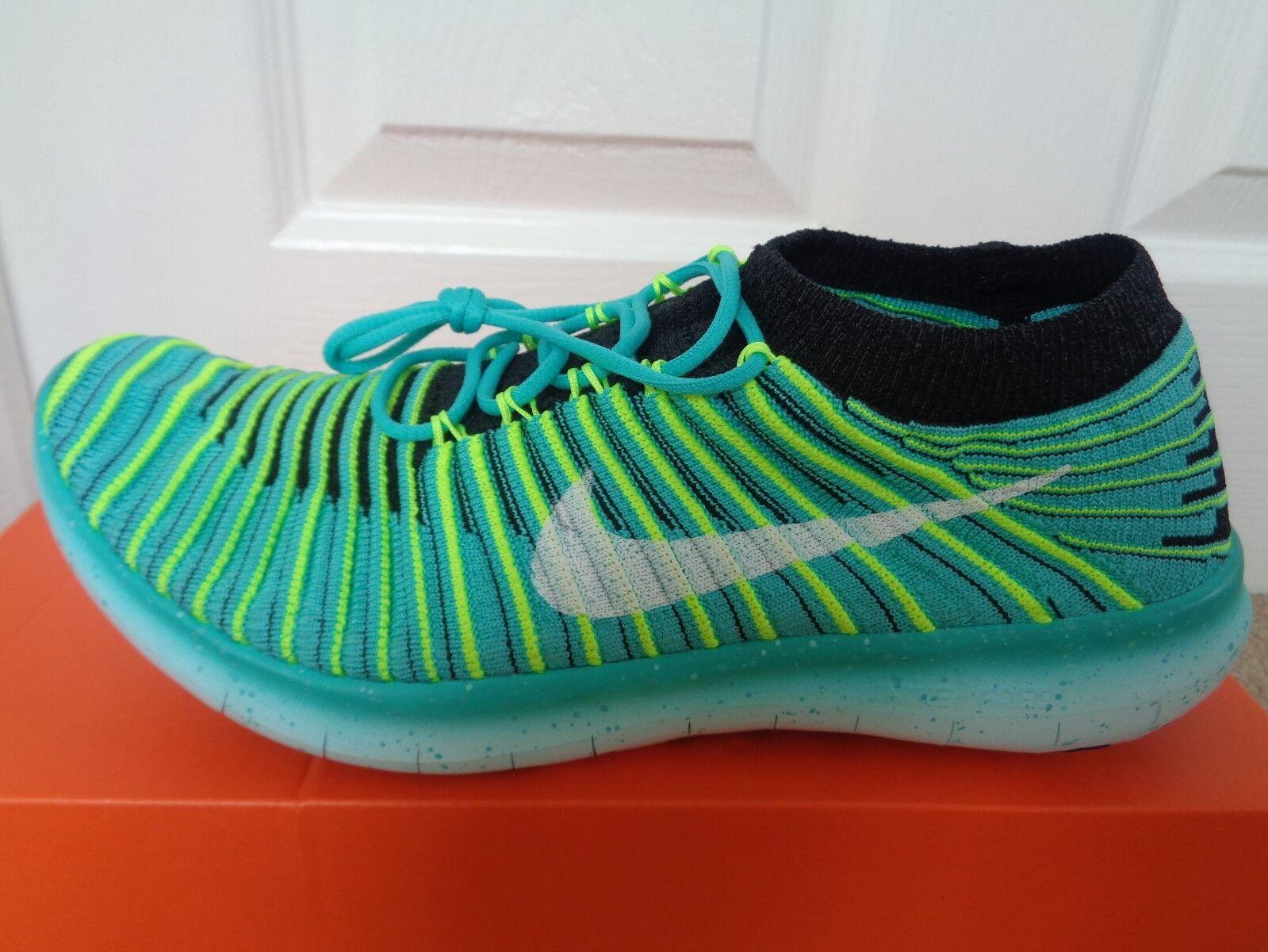 Nike Free RN movimento Flyknit Scarpe Da Ginnastica 834585 300 EU 37.5 US 6.5 Nuovo + Scatola