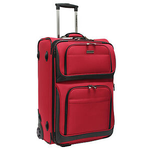 Details About Travelers Choice Conventional Ii Red 26 Rugged Rollaboard Rolling Luggage Bag