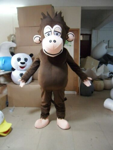 Details about  /Hot Monkey Mascot Costume Suit Cosplay Party Game Dress Outfit Advertising Adult