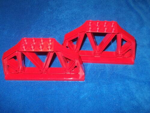LEGO DUPLO VILLE ferrovia 2 x ponti pilastro ringhiera parapetto ROSSO 3774 Gross