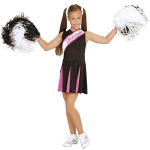 Cheerleader Kinder Kostum Schwarz Pink Madchen Karneval 104 116