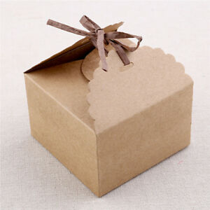 12x Vintage Geschenkbox Sussigkeiten Schokolade Box Packpapier