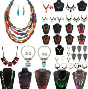 Fashion-Jewelry-Crystal-Choker-Chunky-Statement-Bib-Pendant-Women-Necklace-Chain