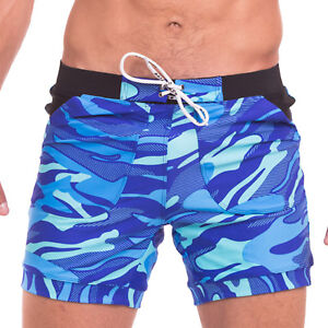 15e859ab5f Taddlee Swimwear for Men Swimsuits Swim Boxer Trunk Camo Boardshorts ...
