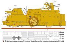 2058a Peddinghaus 1//35 Panzerjagerwagen BP 73 Railcar Markings WWII Trumpeter