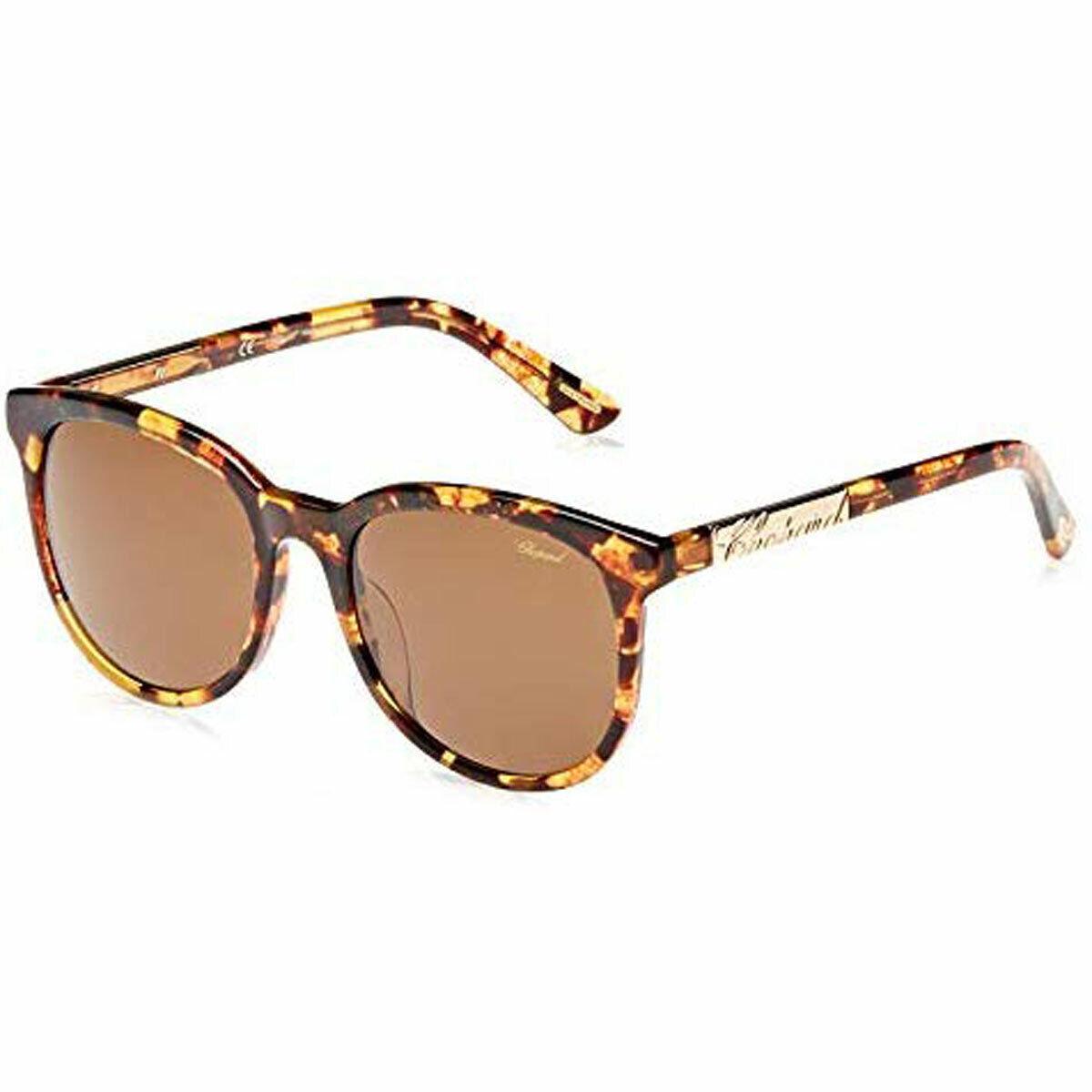 Chopard Women's Sunglasses Havana Frame Brown Mirror Lens SCH171G-0AHR-57-19-140