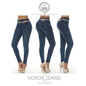 843e810b09 La foto se está cargando Verox-Jeans-colombianos-Butt-Lifter-fajas- colombianas-Jeans-