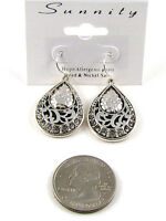 Silver Earrings With Filigree Details