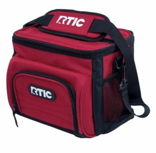 RTIC 8 Can Red Day Cooler New Model Lunchbox Soft Pack 24 Hours Cold Lunch Box