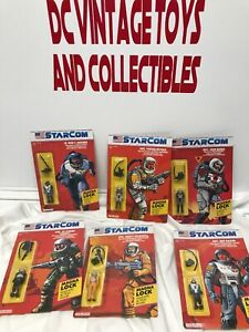 Coleco Starcom 6 figurines, Us Space Force, Rodd, boulanger, boulanger, rivera, Rogers Lot-6