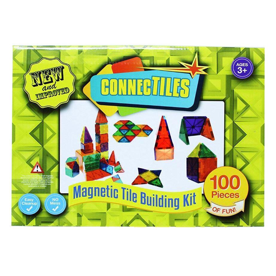 ConnecTiles Magnetic Tile Building Kit - 100 Pieces