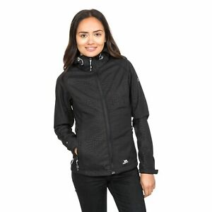 Trespass-Cheska-Womens-Warm-Waterproof-Softshell-Black-Jacket-with-Hood