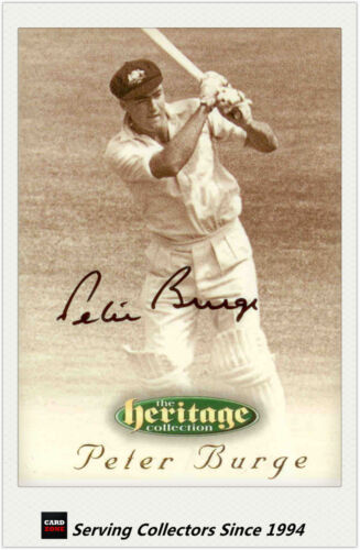 1996 Futera Cricket Heritage Signature Card Player Edition #28: Peter Burge