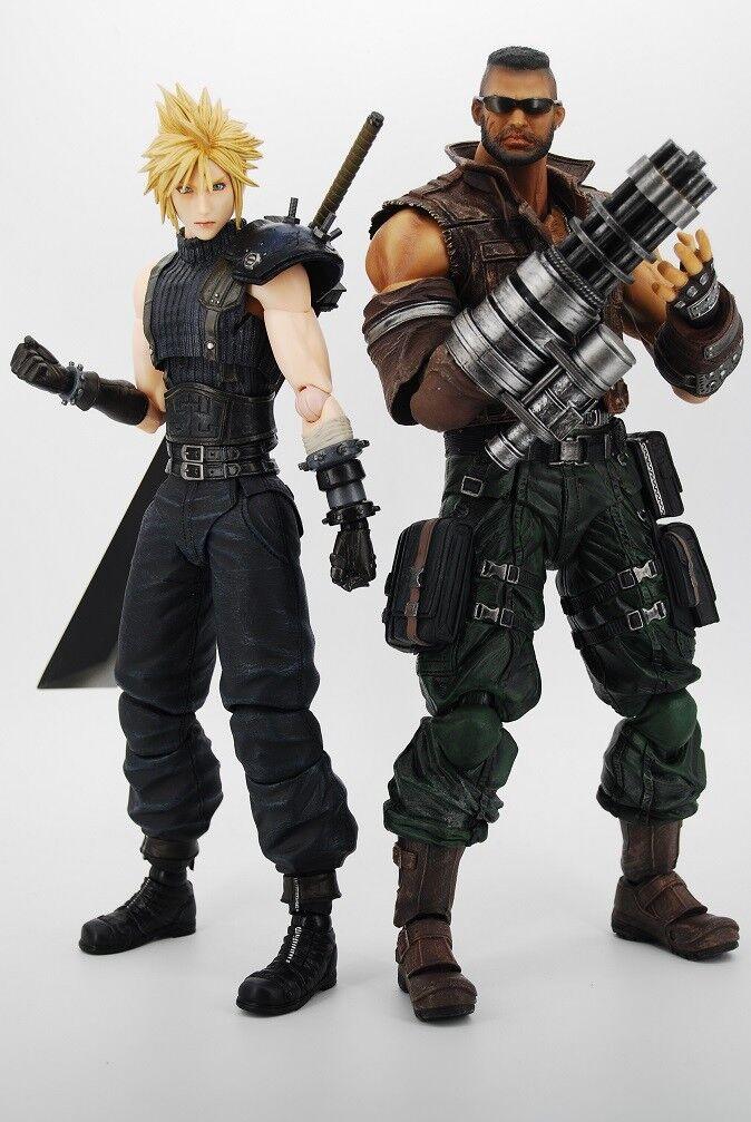 Original Play Arts Final Fantasy VII Barret Wallace Cloud Action Action Action Figure NO BOX 610851