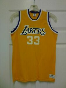 Details about Kareem Abdul Jabbar #33 NBA Yellow Vintage Jersey Youth Size XL