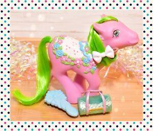❤️My Little Pony MLP G1 Vtg 1989 Merry Go Round Sunny Bunch Sunnybunch & Brush❤️