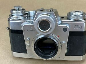 Zeiss-Ikon-Contarex-Bullseye-Vintage-Camera-Body-with-Film-Back-Works