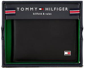 New-Leather-Tommy-Hilfiger-Oxford-Slim-Billfold-Wallet-Black