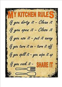 Details about Funny Kitchen Sign Bar Room Sign Pub Sign House Sign House  Rules